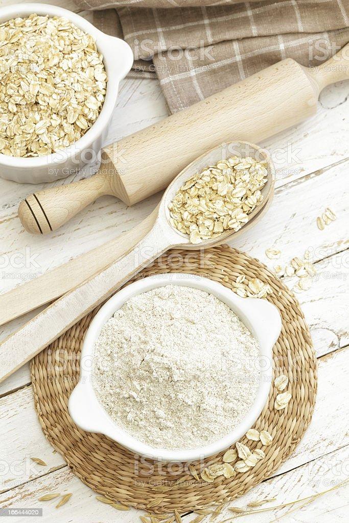 Oat flour royalty-free stock photo