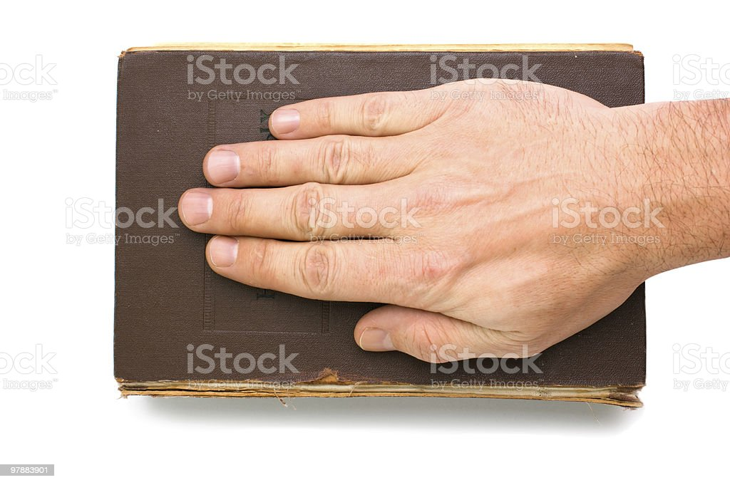 oath on the Bible royalty-free stock photo