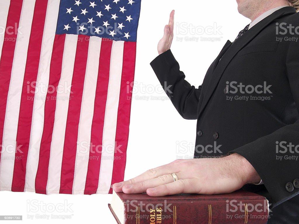 Oath royalty-free stock photo