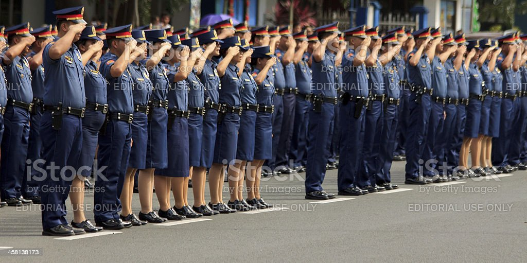 Oath taking of police officers stock photo