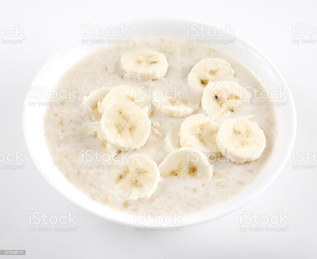 Oatmeal and banana royalty-free stock photo