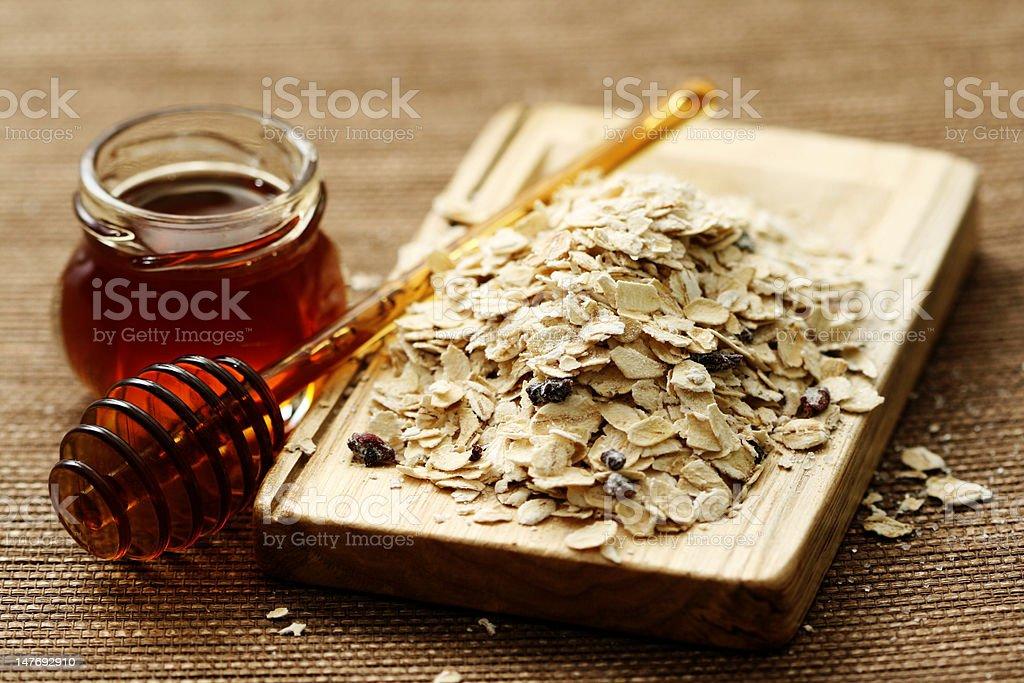 oatmeal and honey royalty-free stock photo