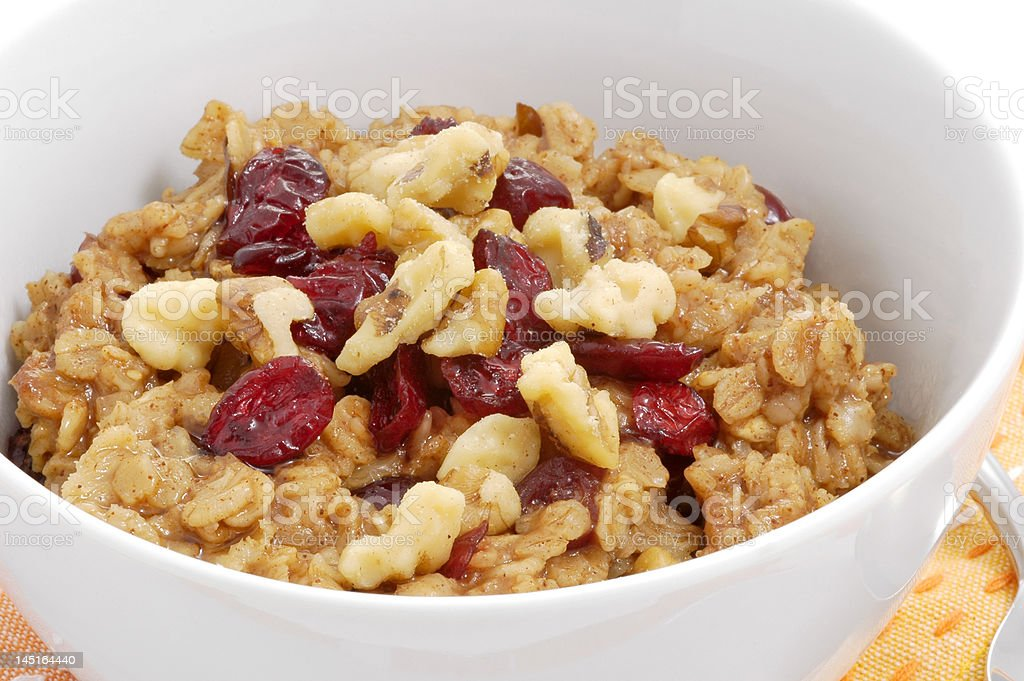 Oatmeal Breakfast royalty-free stock photo