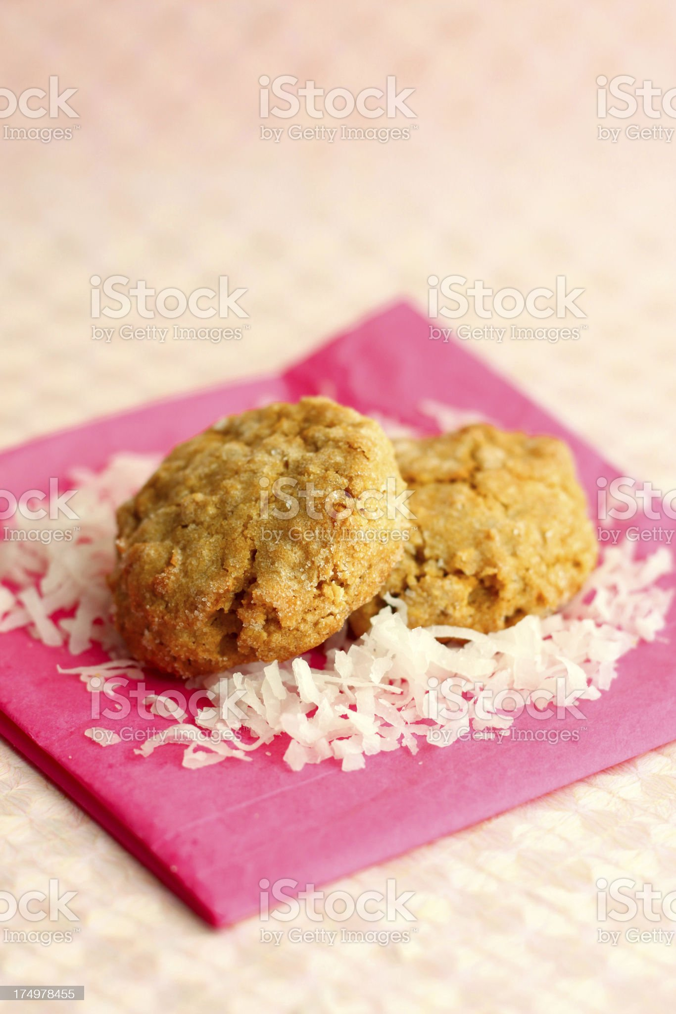 Oatmeal coconut cookies royalty-free stock photo