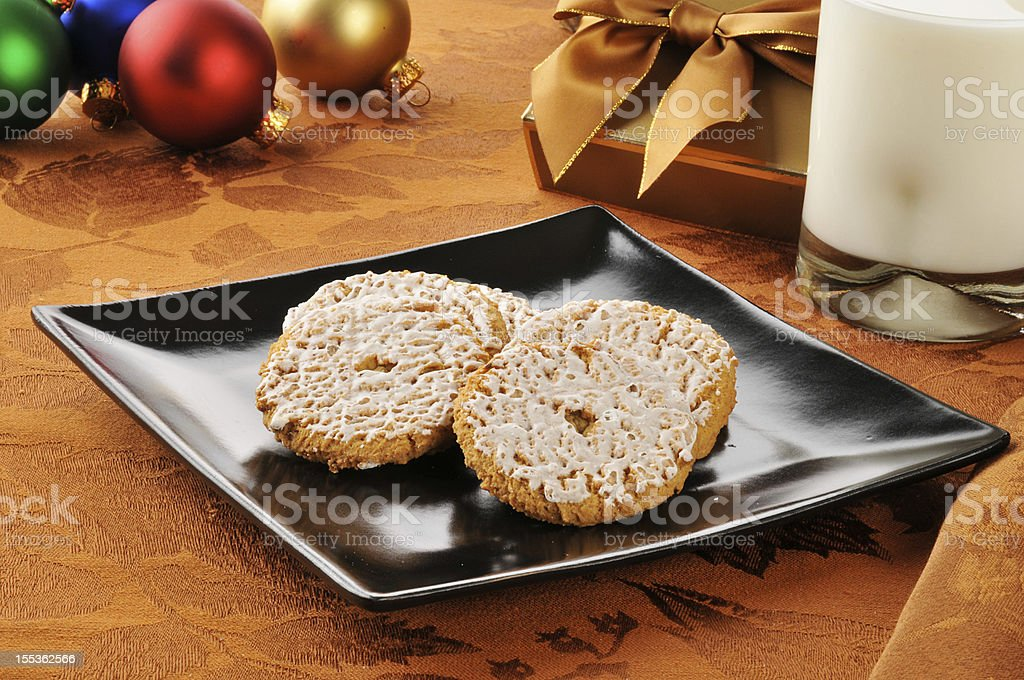 Oatmeal cookies at Christmas royalty-free stock photo