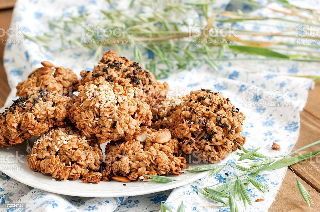 Biscuits à l'avoine photo libre de droits