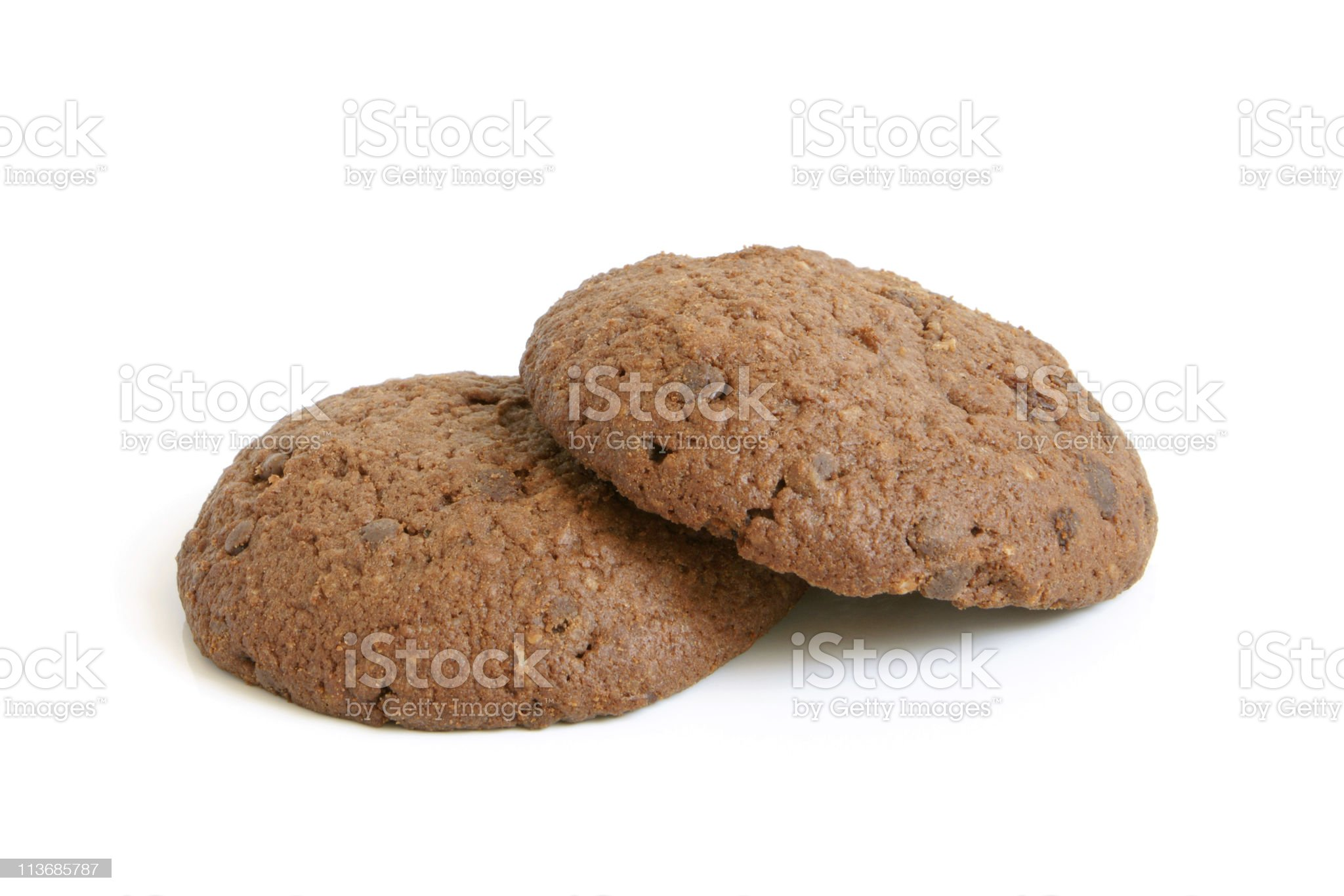 Oatmeal cookies with chocolate royalty-free stock photo