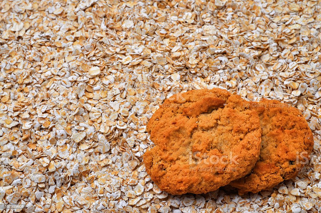 Oatmeal Cookies with Copy Space stock photo