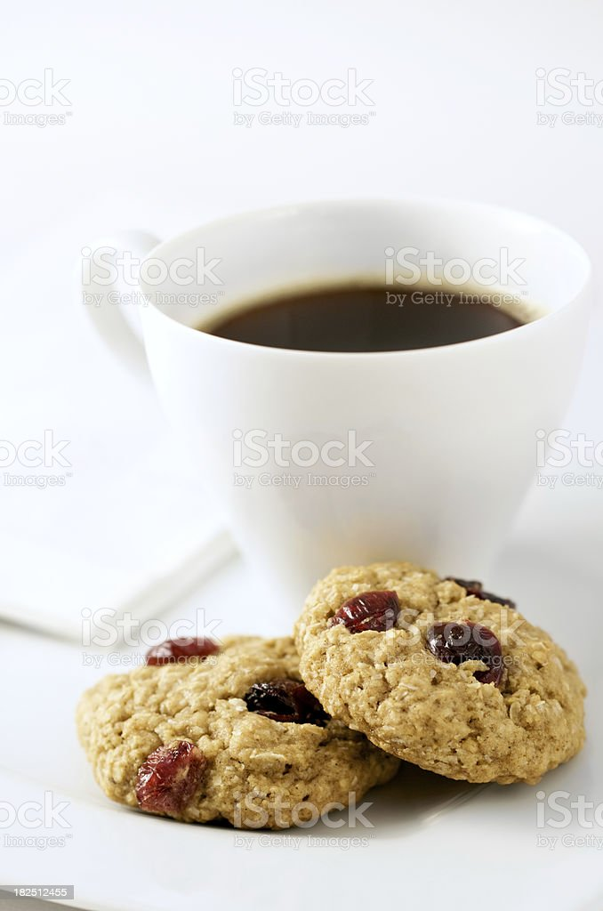 Oatmeal Cranberry Cookies royalty-free stock photo