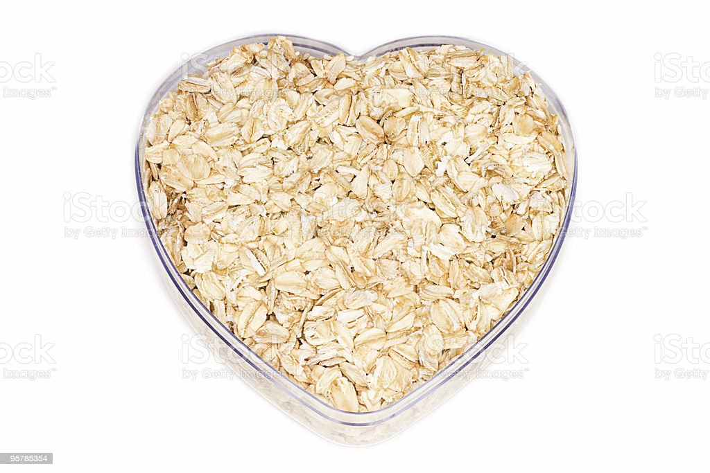 Oatmeal for healthy heart royalty-free stock photo