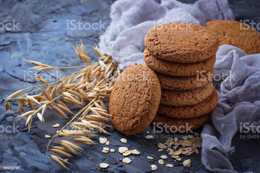 Oatmeal gluten-free cookies stock photo