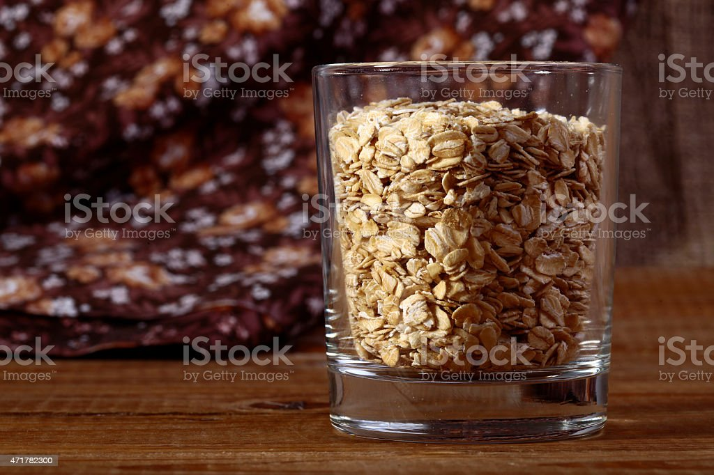 Oatmeal in glass stock photo