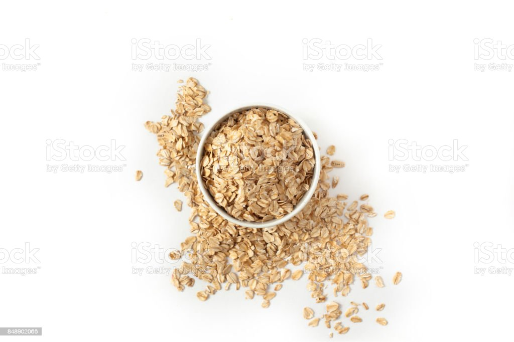 Oatmeal in the cup stock photo