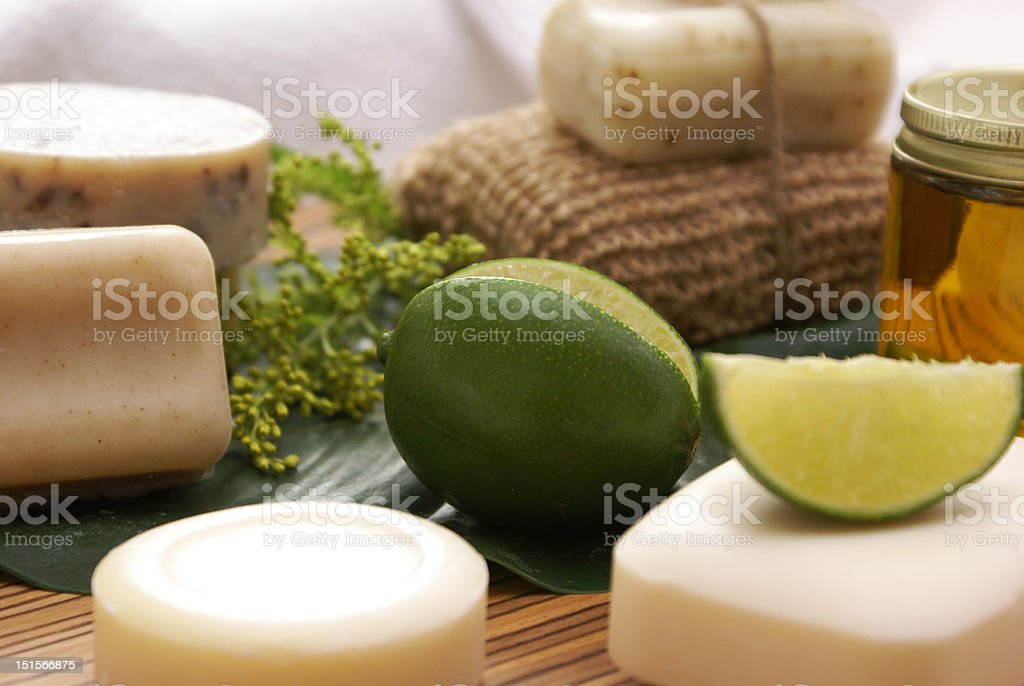 oatmeal lime spa royalty-free stock photo