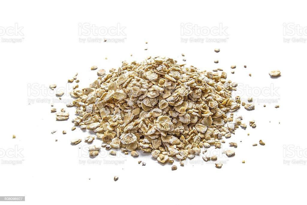 Oatmeal on white stock photo