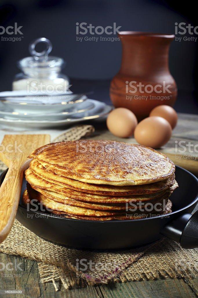 Oatmeal pancakes. royalty-free stock photo