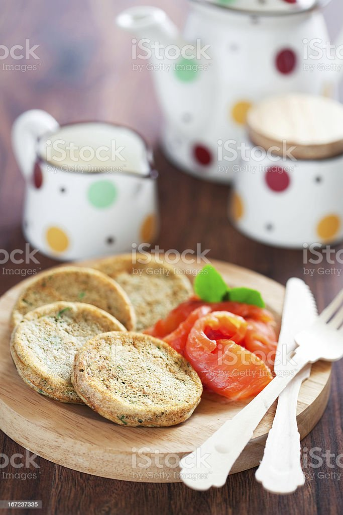 Oatmeal pancakes royalty-free stock photo