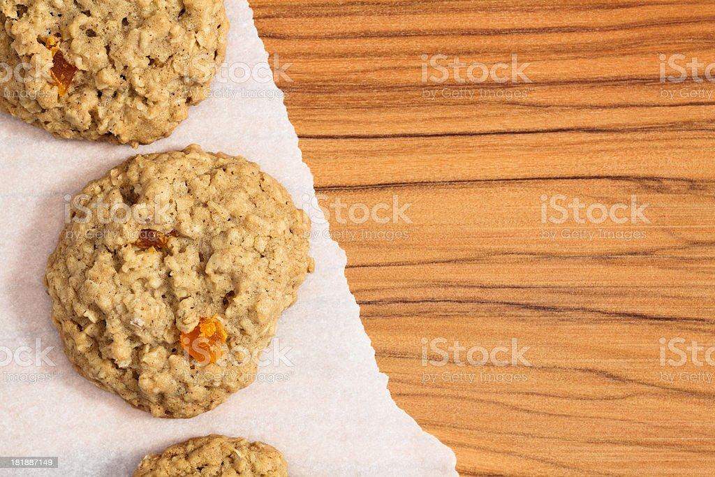 Oatmeal  Papaya Cookies royalty-free stock photo