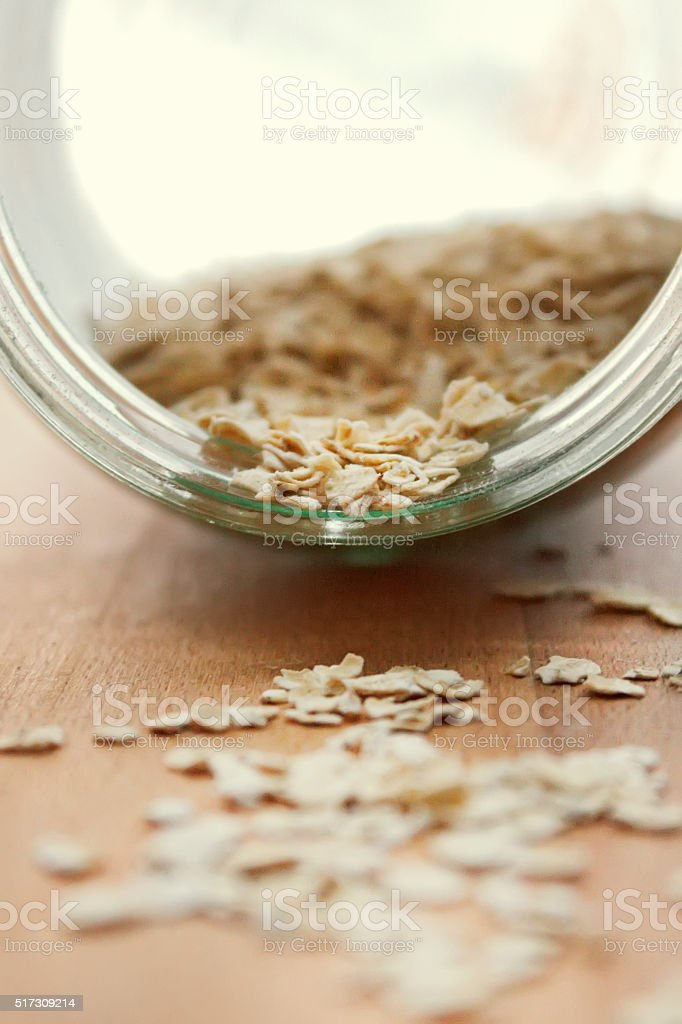 Oatmeal stock photo