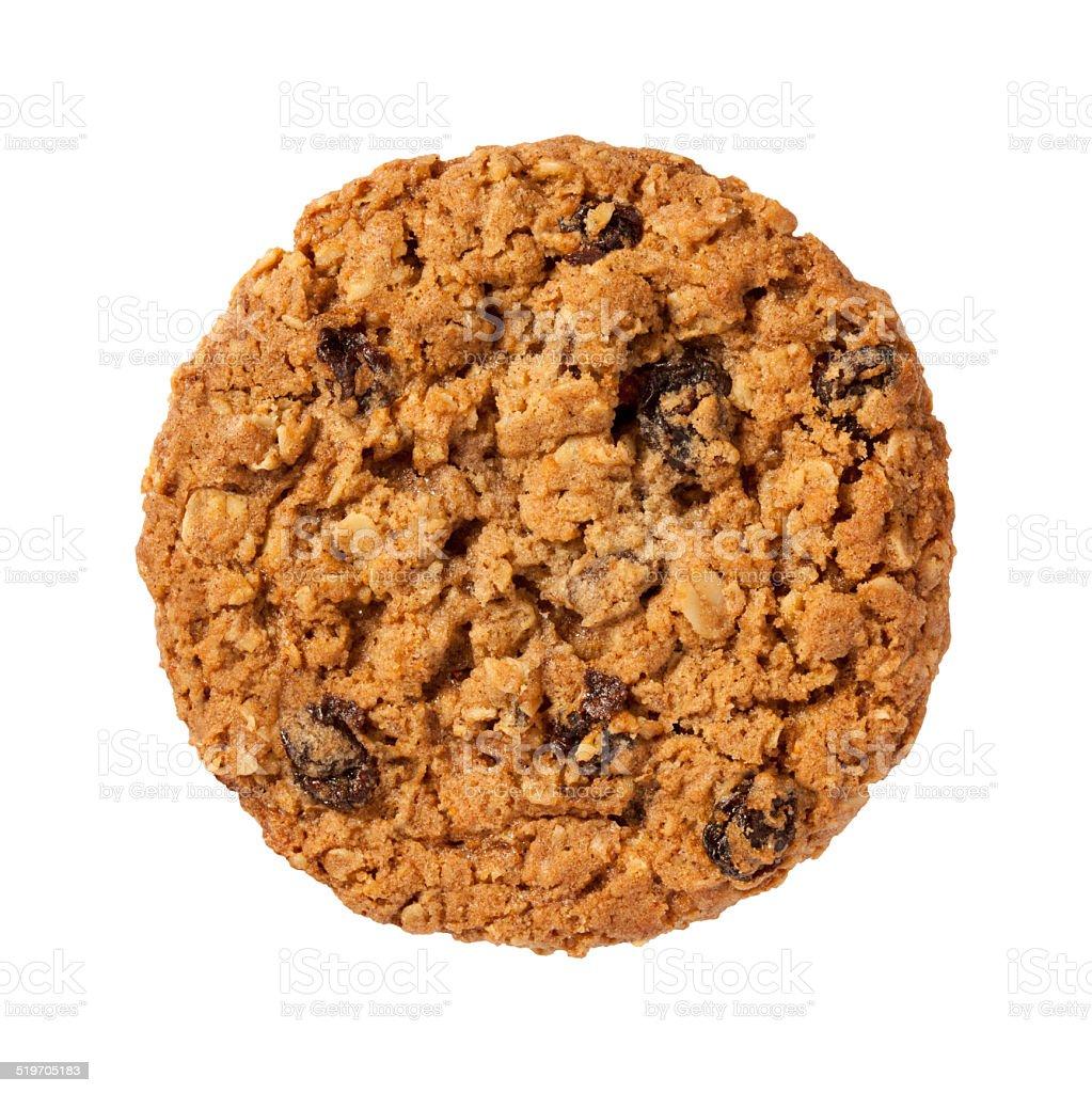 Oatmeal Raisin Cookie isolated stock photo