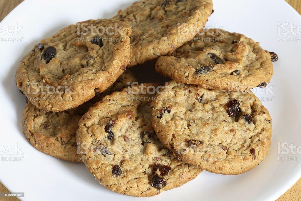 Oatmeal Raisin Cookie royalty-free stock photo