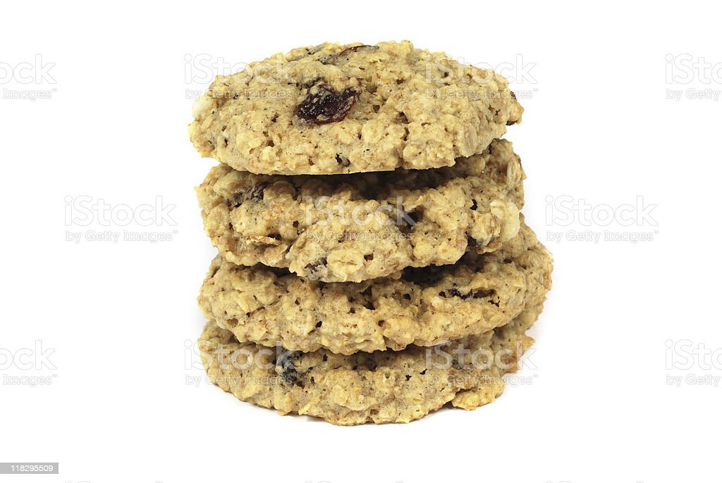 Oatmeal raisin cookies royalty-free stock photo
