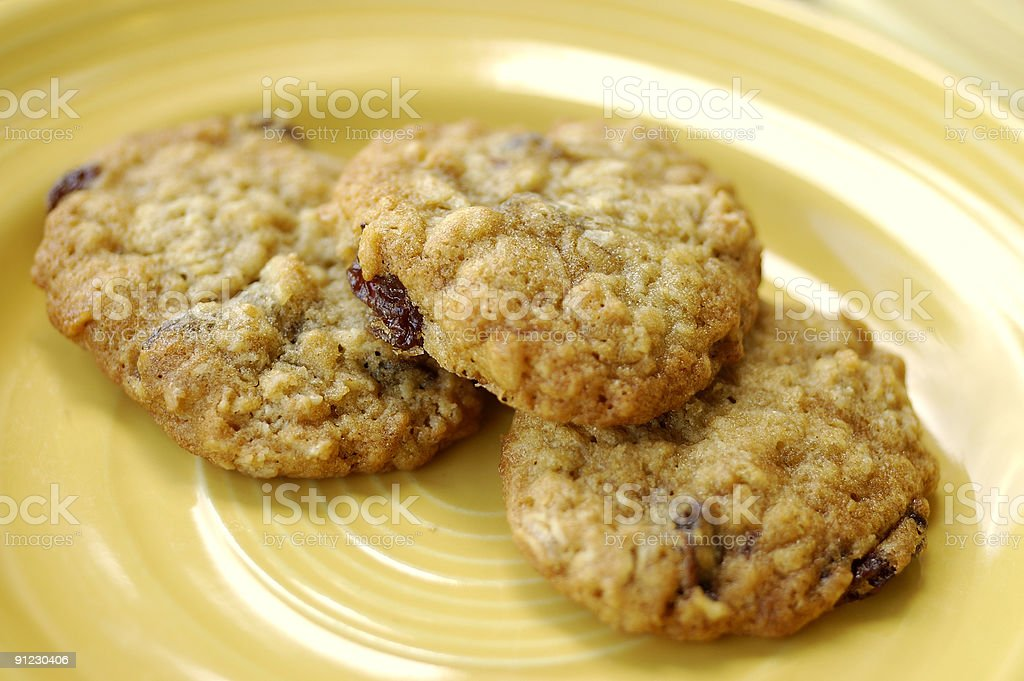 Oatmeal Raisin Cookies stock photo