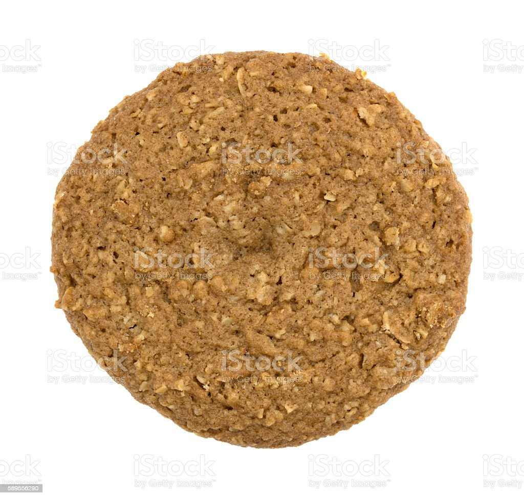 Oatmeal sugar free cookie isolated on a white background stock photo