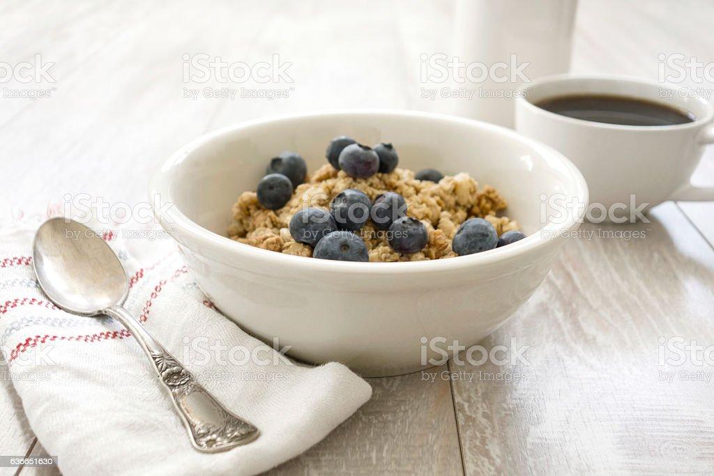 Oatmeal With coffee stock photo