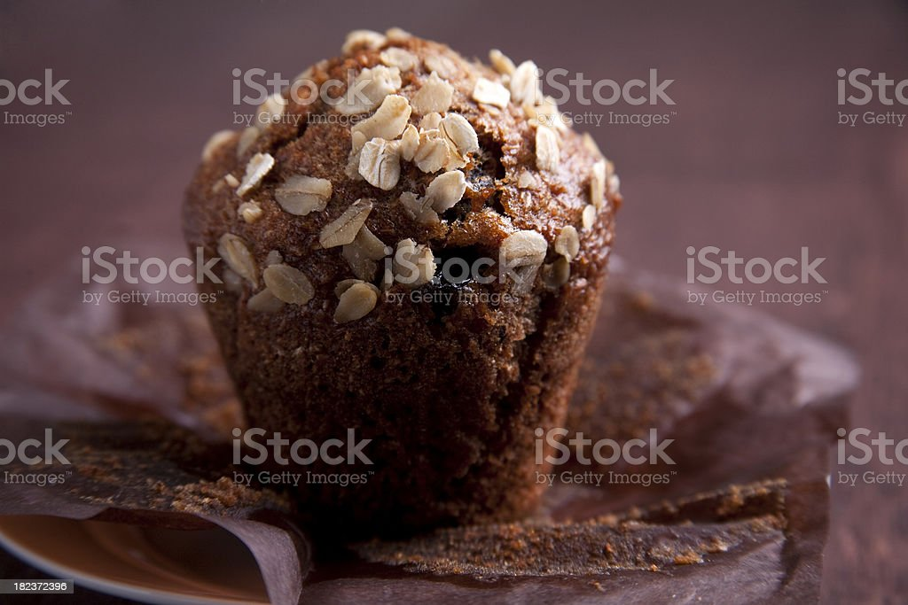 oats and raisin muffin royalty-free stock photo