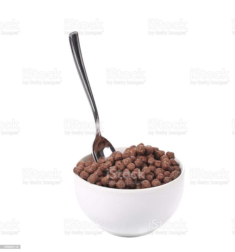 Oats chocolate cereal. stock photo