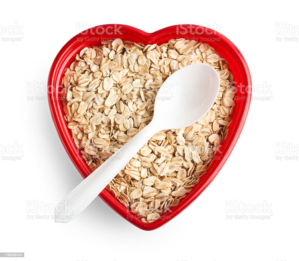 Oats for a healthy heart stock photo