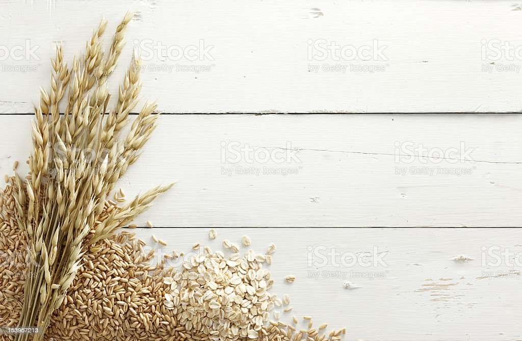 oats with grains stock photo