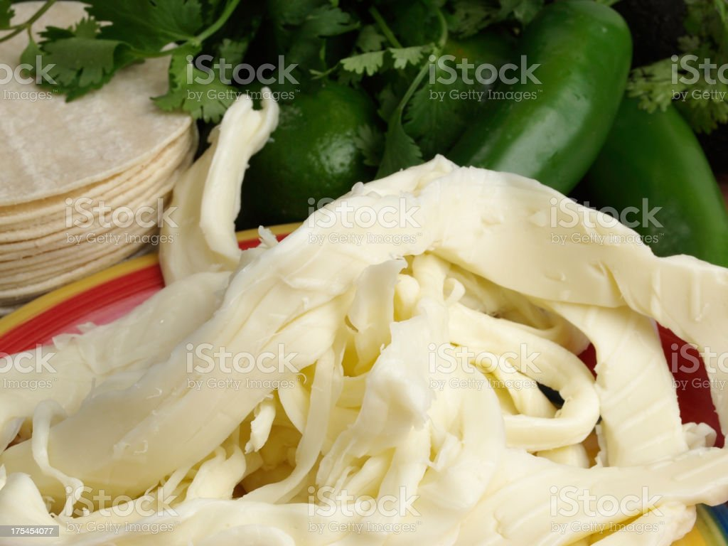 Oaxaca Cheese stock photo