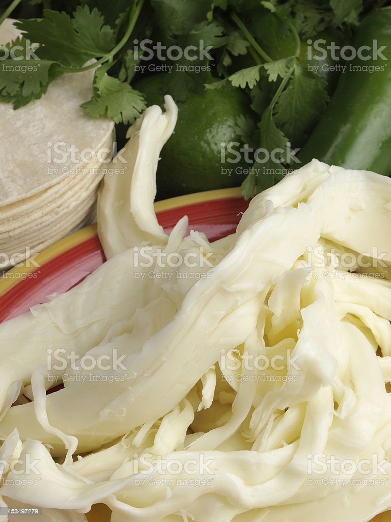 Oaxaca Cheese stock photo