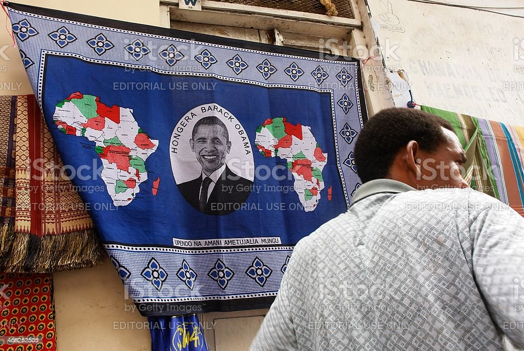 Obama in Africa royalty-free stock photo