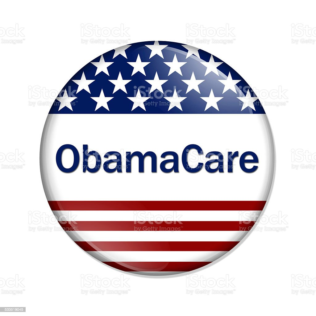 ObamaCare Button stock photo