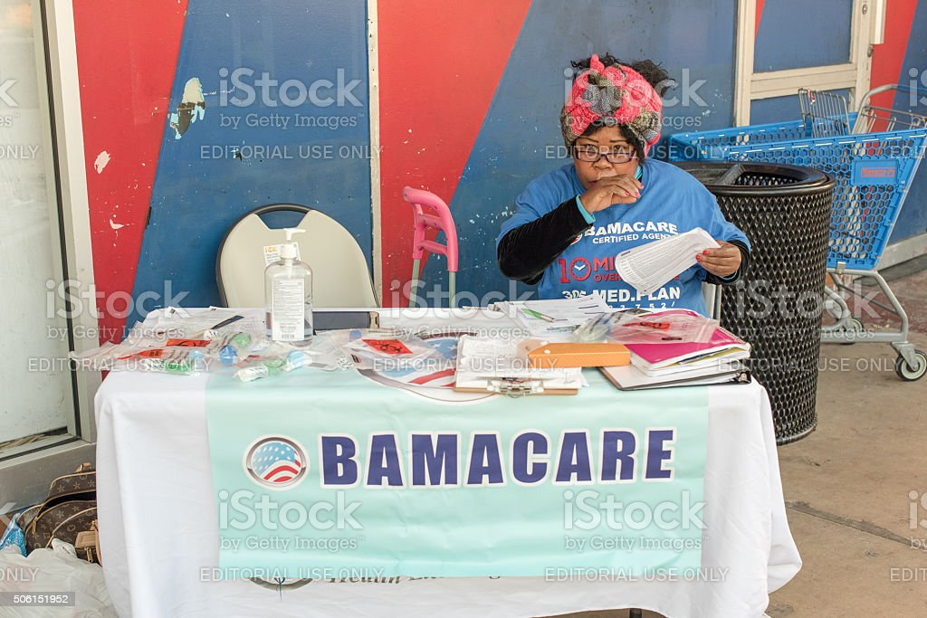 Obamacare in Miami stock photo