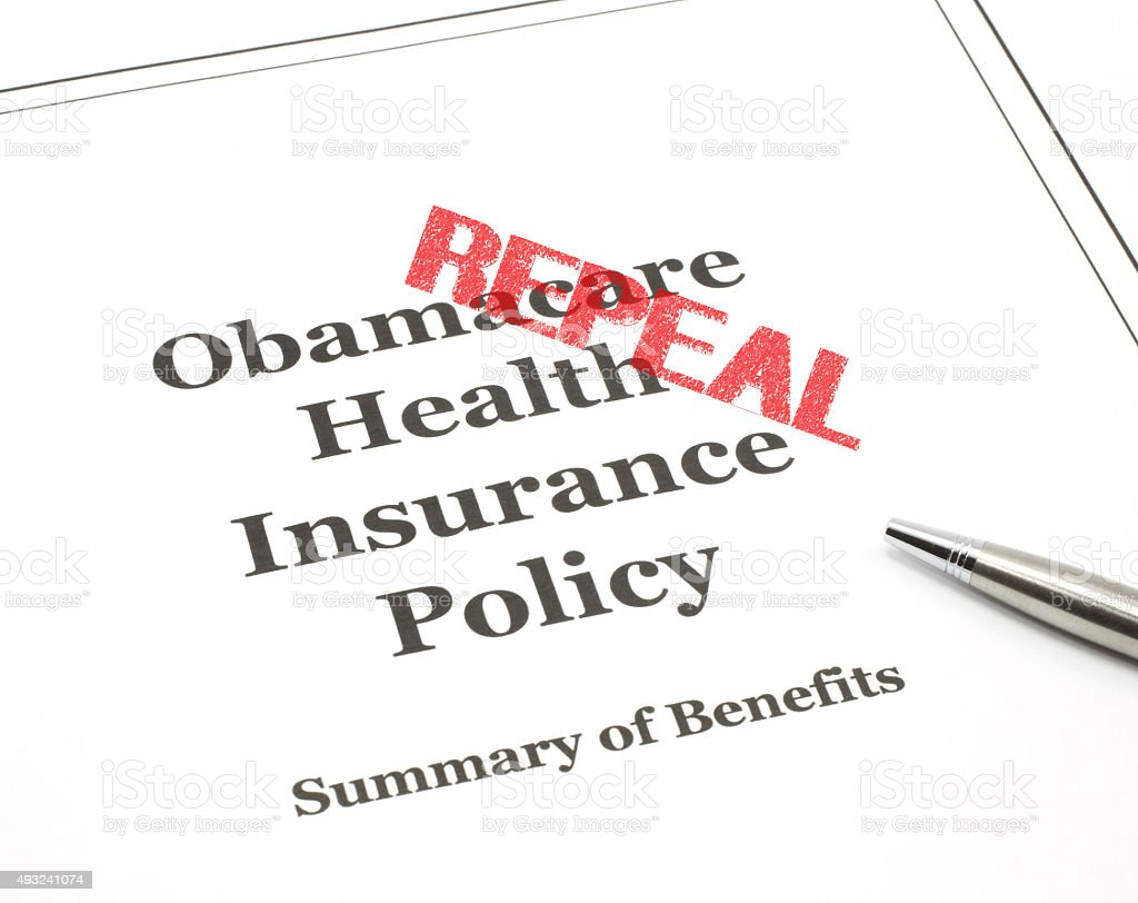 Obamacare ready to be signed. stock photo