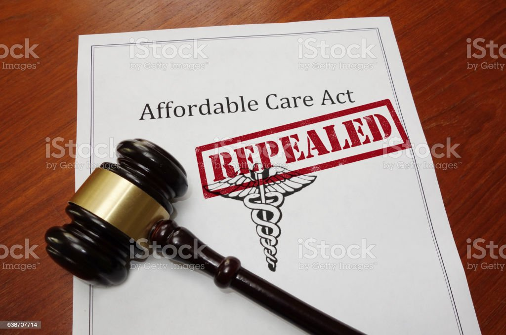 Obamacare repeal concept stock photo