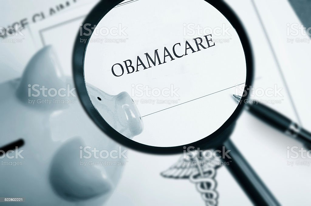 Obamacare search stock photo