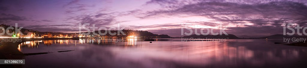 Oban bay sunset stock photo