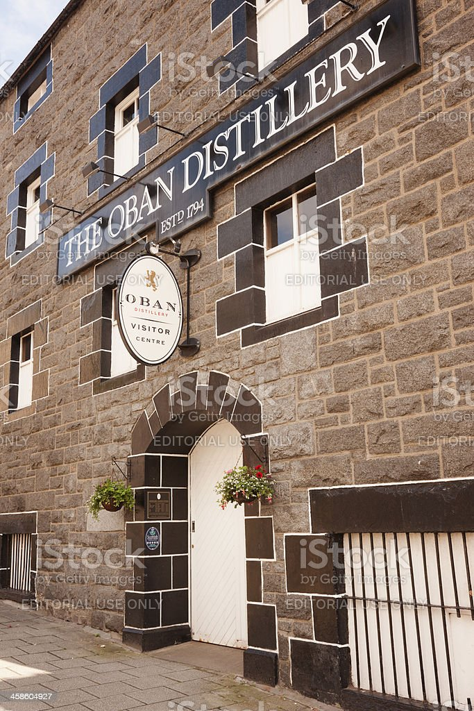 Oban Distillery stock photo