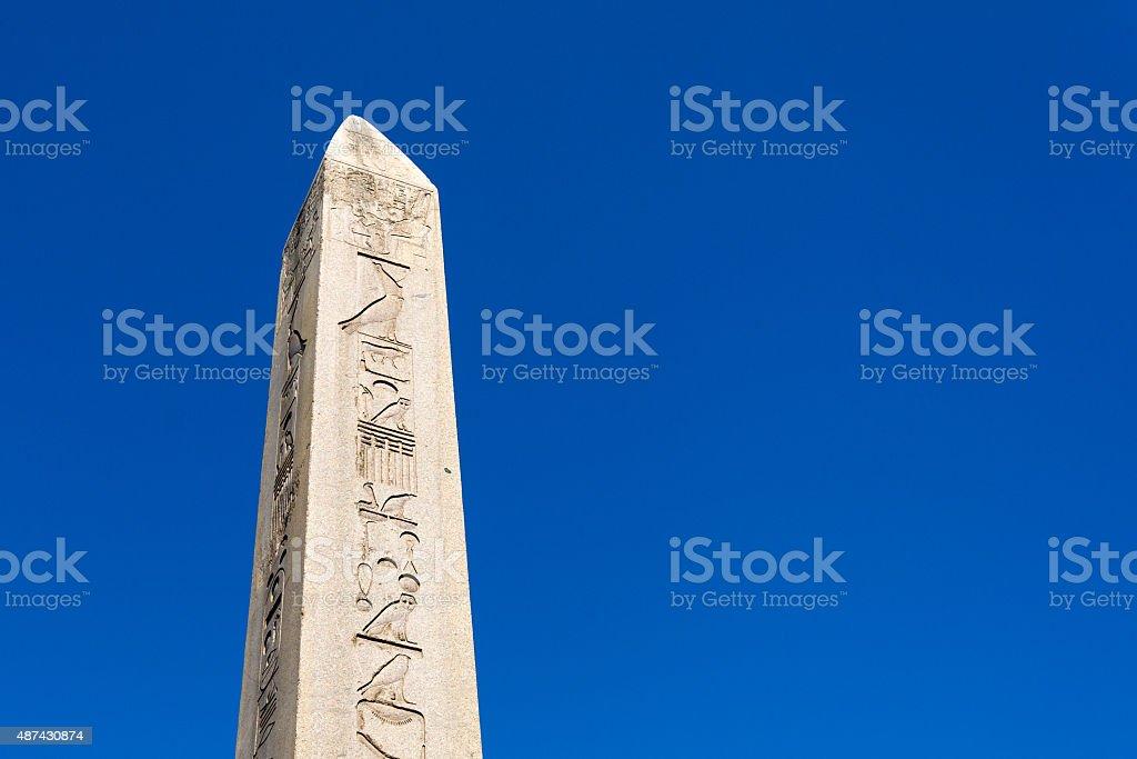 Obelisk in Hippodrome of Constantinople stock photo