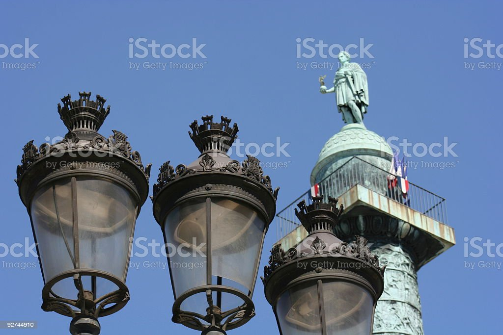 Obelisk in Paris Against a Blue Sky royalty-free stock photo
