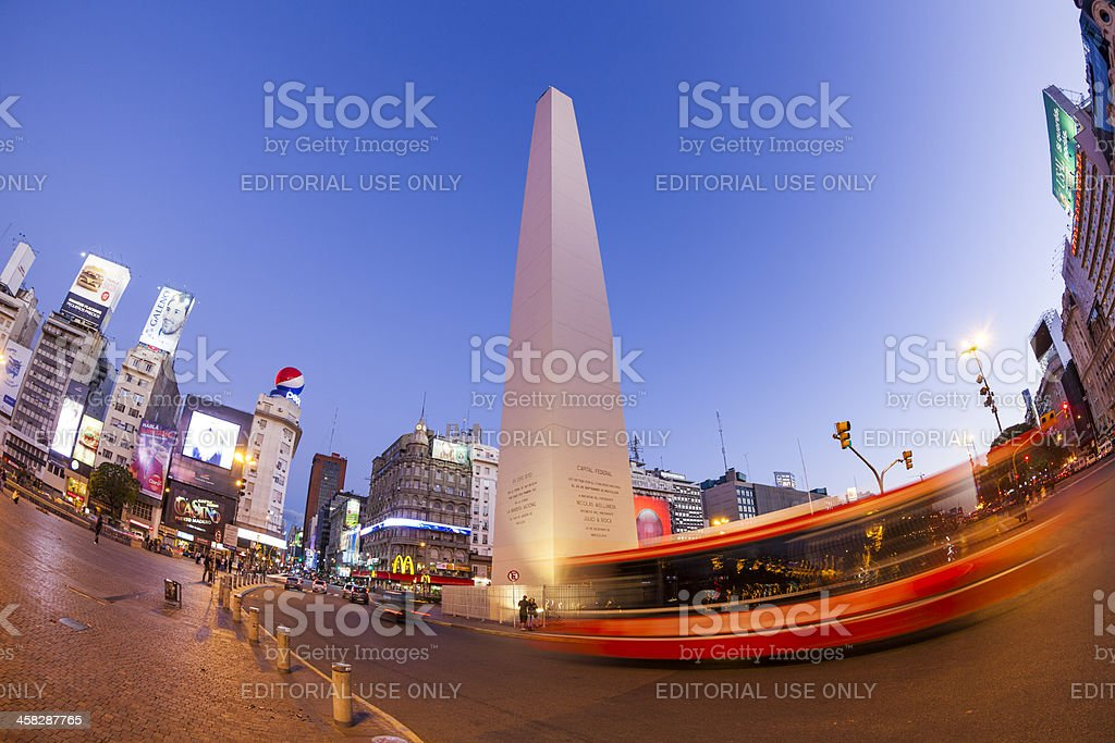 Obelisk of Buenos Aires royalty-free stock photo