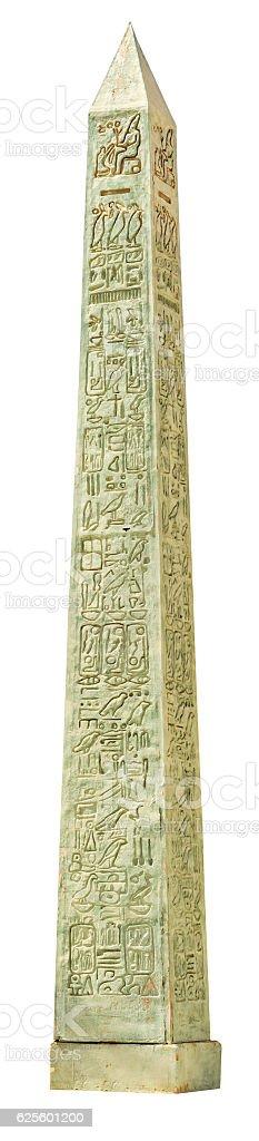 Obelisk of the Karnak temple isolated stock photo
