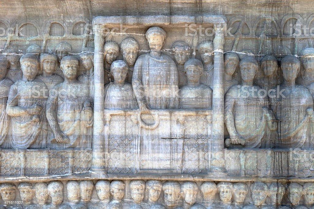 Obelisk of Theodosius I, in the hippodrome, Istanbul stock photo