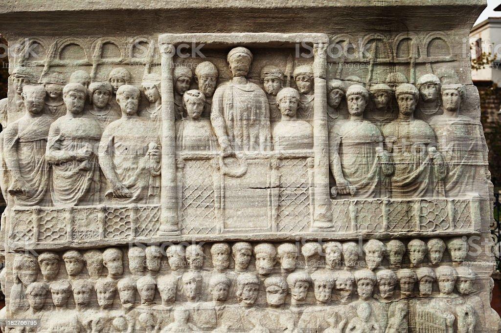Obelisk of Theodosius in  Hippodrome stock photo