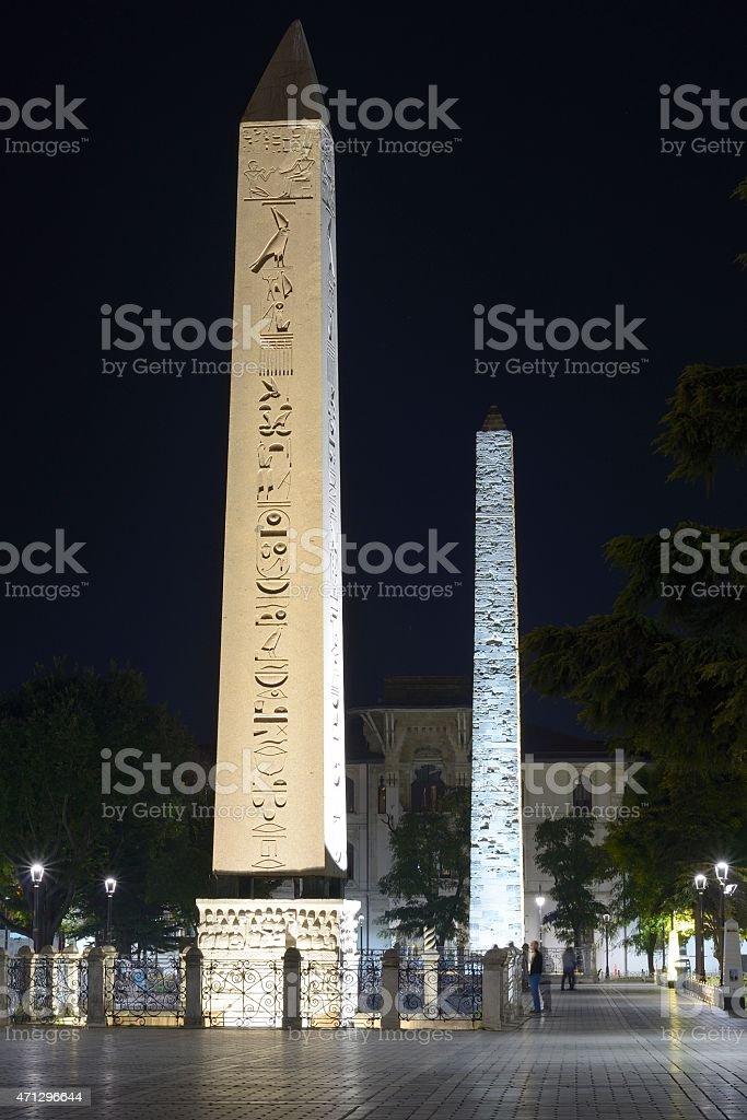 Obelisk of Theodosius stock photo